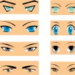 Manga eyes — Stock Vector
