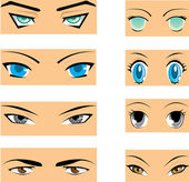 Manga eyes — Stock Vector