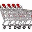 Shopping carts secured — Stock Photo