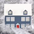 House protected with bubble wrap — Stock Photo