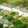 Toy town view of houses — Stock Photo