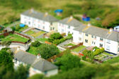 Toy town view of houses — Foto Stock