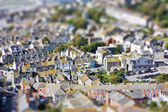 Fake toy town view over populated area — Stock Photo
