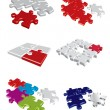 Colorful vector puzzle concepts — Stock Vector