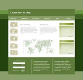 Editable web template — Stock Vector