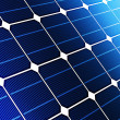 Close up solar cell battery - Stock Photo