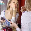 Beautiful woman in dressing room — Stock Photo #5593095