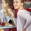 Woman in dressing room — Stock Photo #5593109