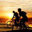 Couple on bicycles - Foto Stock