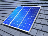 Solar-cell array on roof — Stock Photo