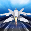Fighter-interceptor aircraft - Stock Photo