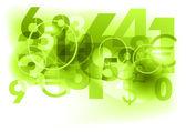 Green numbers — Stock Vector