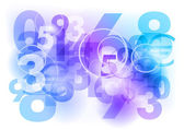 Blue numbers — Stock Vector