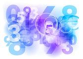 Blauwe nummers — Stockvector