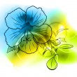 Blue flower - Stock Vector