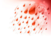 Red rain — Stock Vector