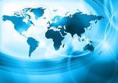 Blå värld — Stockvektor