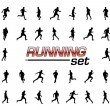 Running set — Stock Vector