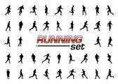 Running set — Stock Vector