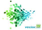 Plaza de onda — Vector de stock