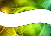 Ondas verdes — Vetorial Stock