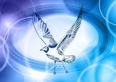 Blue seagull — Stock Vector