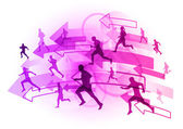 Lila Läufer — Stockvektor