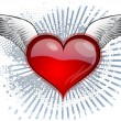 Royalty-Free Stock Vector Image: Heart wings