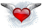 Heart wings — Stock Vector