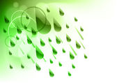 Green rain — Stock Vector