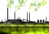 Green factory — Stock Vector