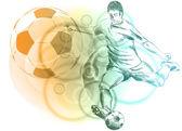 Giocatore di gioco del calcio — Vettoriale Stock
