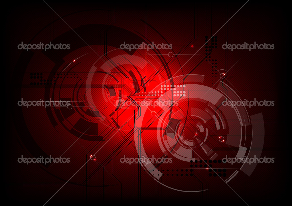 Tech background in the red — Stock Vector #6418207
