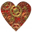 Mechanical heart - Stock Photo