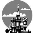 Moscow - Russian Orthodox church - vector - Stock Vector