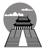 Pagoda - vector — Stock Vector
