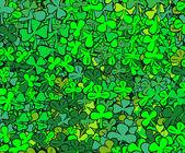 Find four-leaf clover — Stock Vector