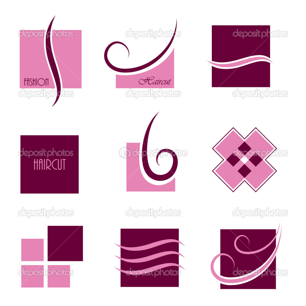 Signs and symbols of haircut, isolated — Stock Vector #5409089