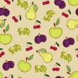 Seamless fruit wallpaper - Stock vektor