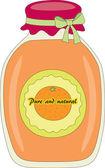 Orange jam — Stock Vector
