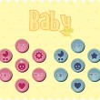 Baby buttons — Stock Vector