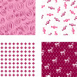 Seamless pink wallpapers — Stock Vector