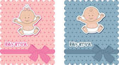 Baby-anreise-karten — Stockvektor