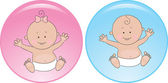 Sign baby boy and girl — Stock Vector