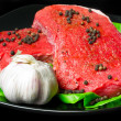 Raw beef steak — Stock Photo #5587913