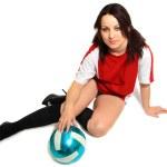 Sexy Soccer female fan — Stock Photo #5587925