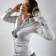 Listening to the music — Stock Photo
