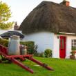 Irish traditional cottage house — Stock Photo