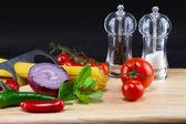 Italian pasta ingredients — Stock Photo
