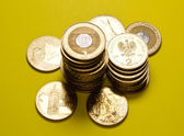 Polish zloty coins — Stock Photo